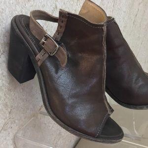 Frye Leather peep toe Booties